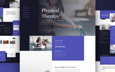 Divi Physical Therapy Layout Pack for Free
