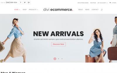 Divi eCommerce Example Websites