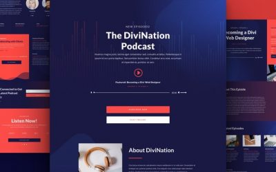 Free Divi Layout Pack for Podcast Website