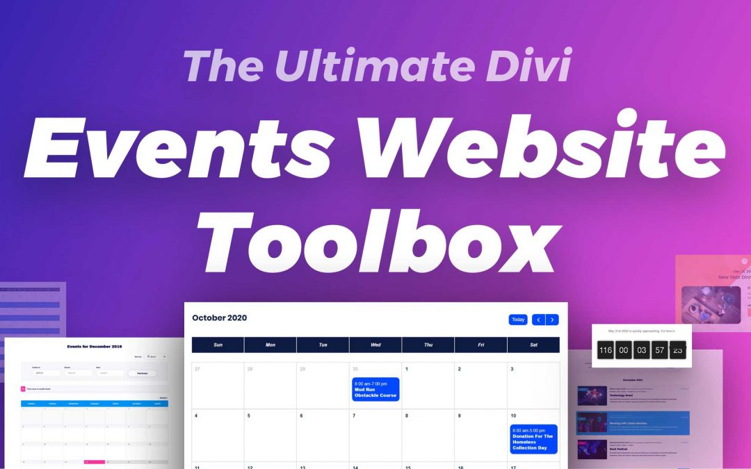 Create Amazing Events Website with Discounted Divi Toolbox on Cyber Monday Deal