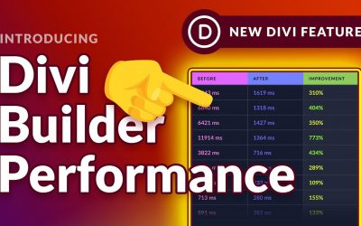 Divi New Updates – Now Divi Builder Will Work Faster than Before