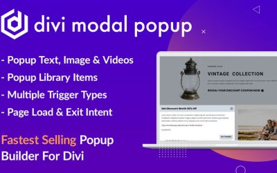 Divi Modal Pop up from Divi Extended Review