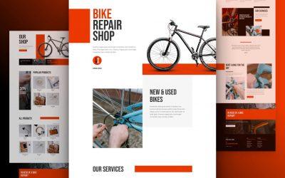 Free Divi bike Repair Layout for Building Bike Repair Service Website