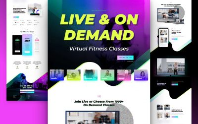 Download Free Divi Virtual Fitness Layout Pack