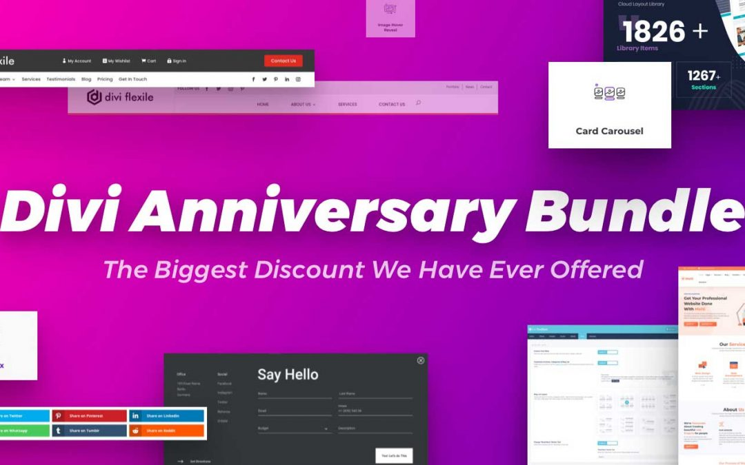 Divi Anniversary Bundle 2021 – Get 50% Off Divi Popular Product