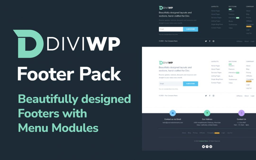 DiviWp Footer Section for Divi Review