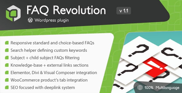FAQ Revolution Plugin for Divi WordPress