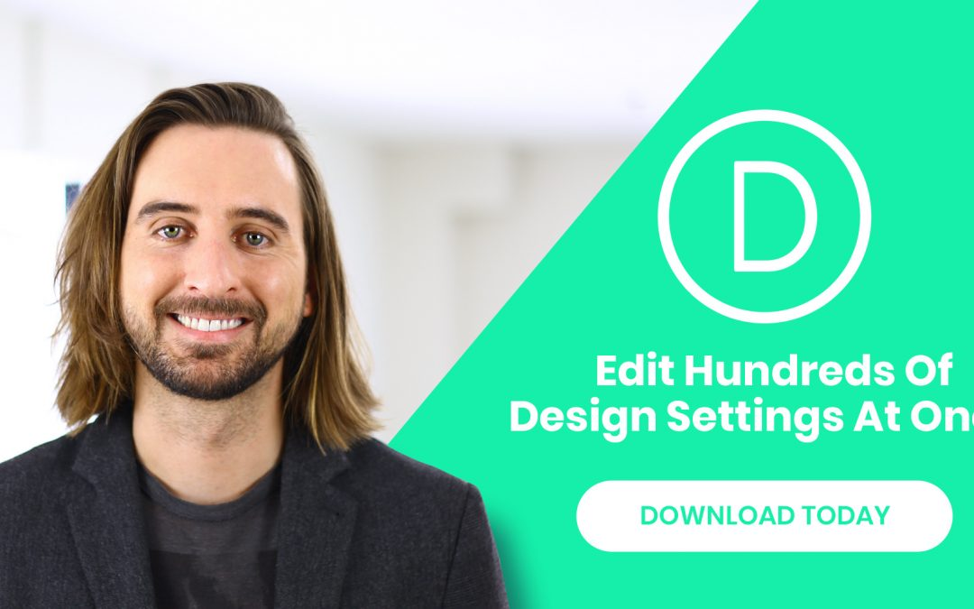 Change Design a Whole Page in Second with Search and Replace Divi Feature