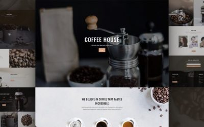 Free Divi Coffee Shop Layout from Elegantthemes