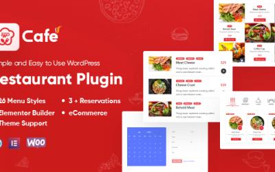 WP Cafe Restaurant Food Menu and Reservation Plugin for Divi WordPress