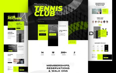Get Free Tennis Club Layout for Divi Theme Builder