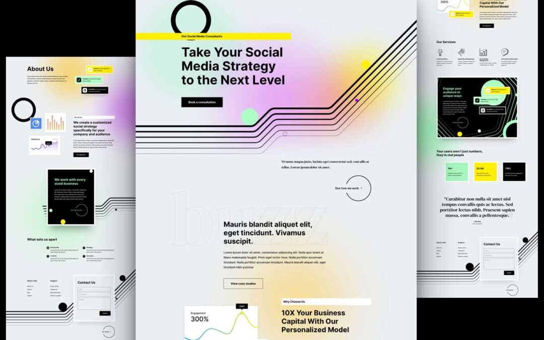 Download Free Divi Social Media Consultant Layout Pack
