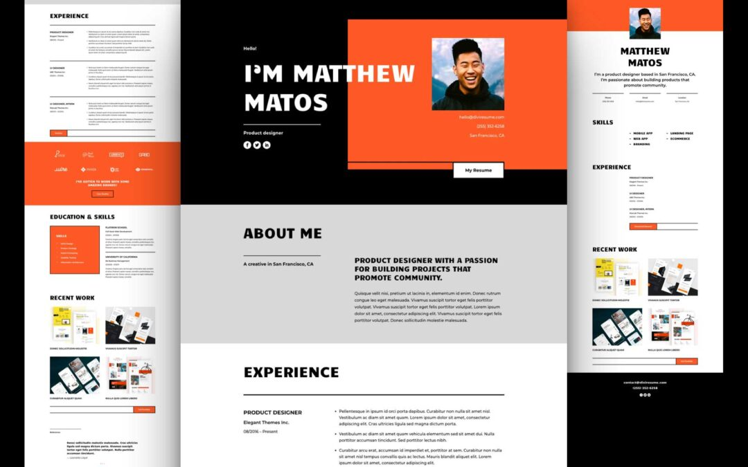 Download Divi Creative CV Layout Pack for Free