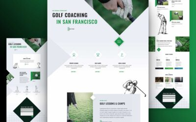 Download Free Divi Golf Lesson Layout Pack