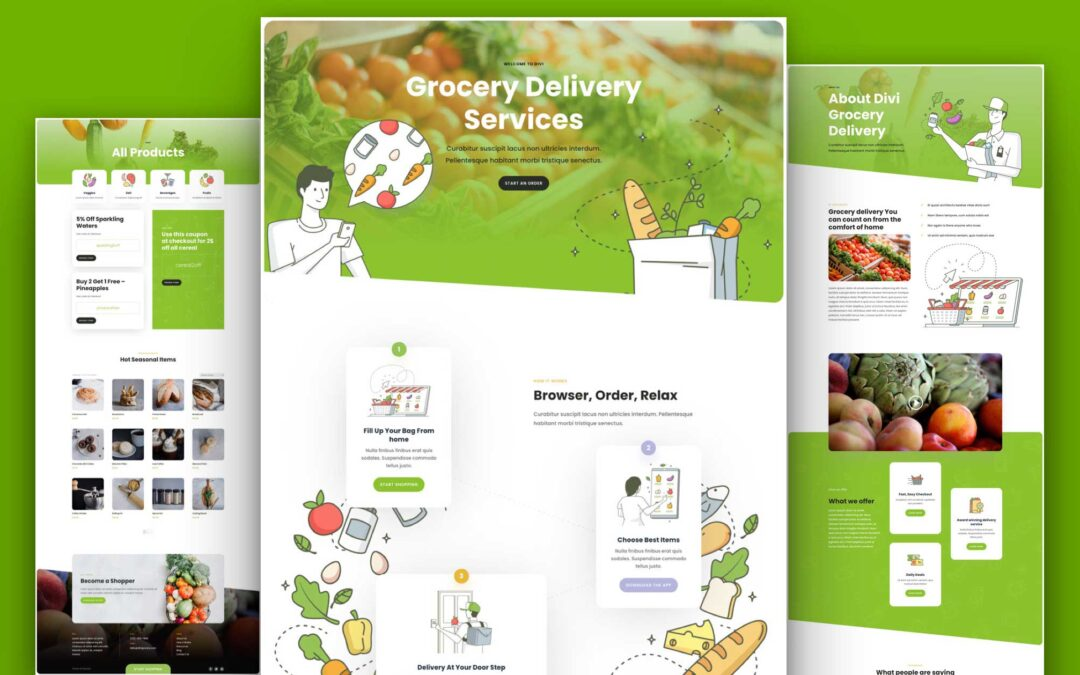 Build Grocery Website Using Grocery Delivery WordPress Theme From Divi