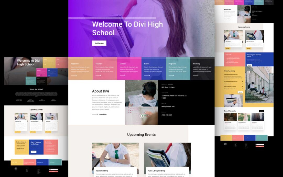Get Free Blog Post Template For Divi Highs School Layout Pack