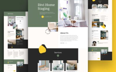 Get Free Home Stagging Blog Post Layout Template For Divi