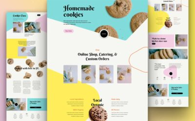 Download Free Product Template For Divi Homemade Cookies Layout Pack