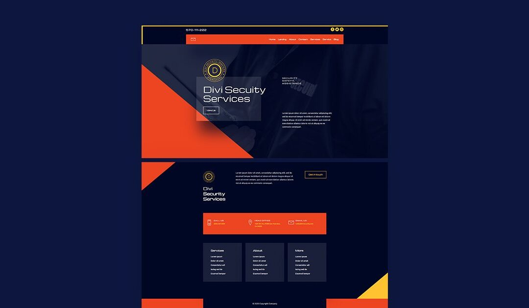 Get Free Header and Footer For Divi Security Layout Pack