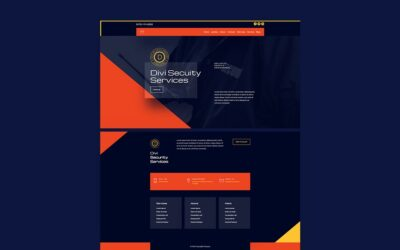 Get Free Blog Post Template For Divi Security Layout Pack