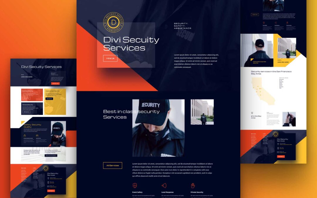 Get Free Divi Security Services Layout Pack