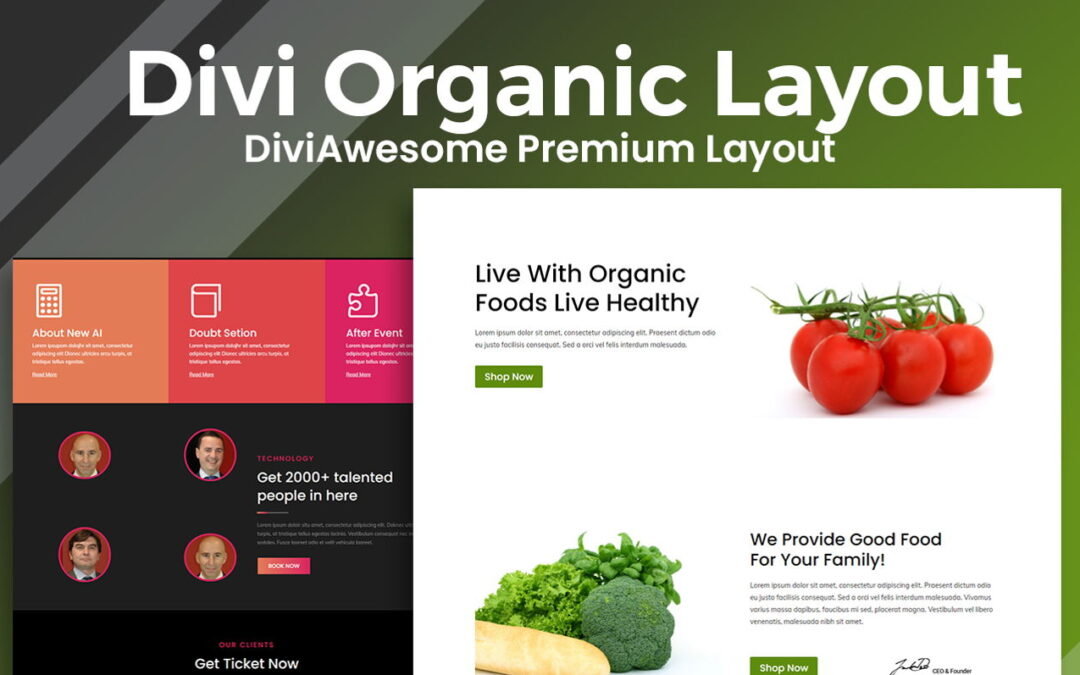 Get Divi Organic Layout 2