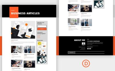 Get FREE Divi's Creative CV Layout Pack Category Page Template