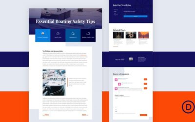 Download Free Blog Post Template For Divi's Marina Layout Pack