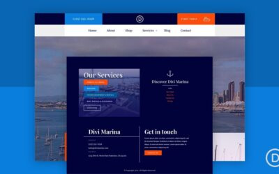 Download Global Header And Footer For Divi Marina Layout Pack