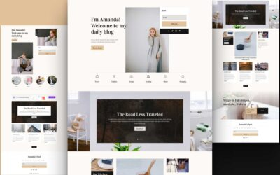 Download Divi Blogger Layout Pack for Free